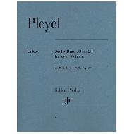 Pleyel, I.: Sechs Duos op. 23 für zwei Violinen