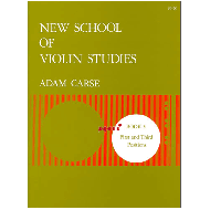 Carse, A : New School of Violin Studies. Book 3