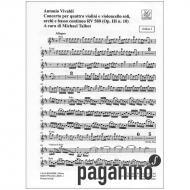 Vivaldi, A.: Concerto X Op. 3/10 RV 580 PV 148 h-Moll – Stimmen