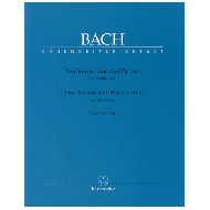 Bach, J.S.: Drei Sonaten und drei Partiten für Violine solo BWV 1001-1006 URTEXT