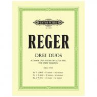 Reger, M.: Duo Nr. 3 Op. 131b A-Dur aus »Drei Duos«