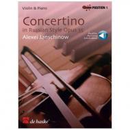 Janschinow, A.: Concertino im russischen Stil Op. 35 (+Online Audio)