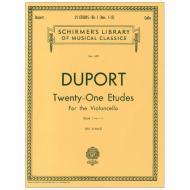 Duport, J. P.: 21 Etudes – Book 1