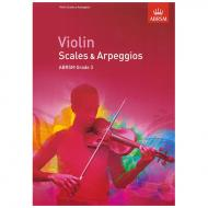 ABRSM: Violin Scales And Arpeggios – Grade 3 (From 2012)