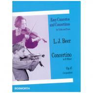 Beer, L.: Concertino Op. 47 e-Moll