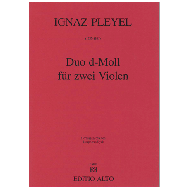 Pleyel, I. F.: Duo d-Moll für 2 Violen