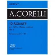 Corelli, A.: 12 Violinsonaten Op. 5 Teil 2 (Nr. 7-12)