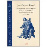 Bréval, J. B.: 6 Sonaten für Violoncello und Bass Op. 40 (Nr. 4-6)