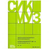 Schostakowitsch, D.: Streichquartett Nr. 10, op. 118