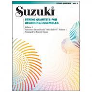 Suzuki String Quartets for Beginning Ensembles Vol. 1