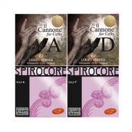 IL CANNONE WARM & BROAD + SPIROCORE Cellosaiten MIX SATZ