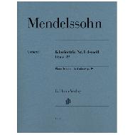 Mendelssohn Bartholdy, F.: Klaviertrio Nr. 1 Op. 49  d-moll