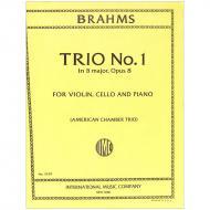 Brahms, J.: Klaviertrio Nr. 1 Op. 8 H-Dur (2. Fassung)