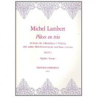 Lambert, M.: Pièces en trio Band 1