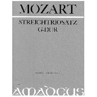 Mozart, W. A.: Streichtriosatz G-Dur KV Anh.66