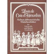 Caix d'Hervelois, L. d.: 7 altfranzösische Mädchenbilder