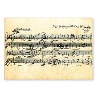 Postkarte Mozart