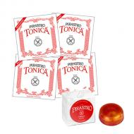 TONICA »NEW FORMULA« Violasaiten SATZ + Kolophonium von Pirastro