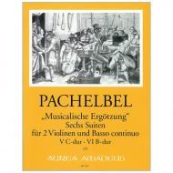 Pachelbel, J.: »Musicalische Ergötzung« 6 Suiten Heft 3