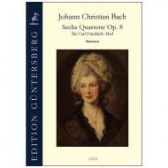 Bach, J. Chr.: 6 Quartette Op. 8  – Stimmen
