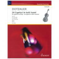 Dotzauer, J. J. F.: 24 Capricen in allen Tonarten Op. 35