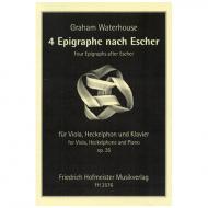 Waterhouse, G.: 4 Epigraphe nach Escher Op. 35