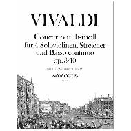 Vivaldi, A.: Concerto in h-moll op. 3/10 (RV 580) - L'estro armonico