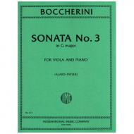 Boccherini, L.: Violasonate Nr. 3 G-Dur