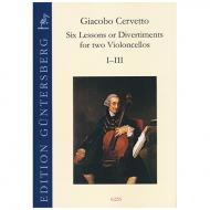 Cervetto, G.: Six Lessons or Divertiments Op.4 Vol.1 I-III