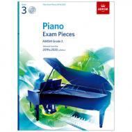 ABRSM: Piano Exam Pieces Grade 3 (2019-2020) (+CD)