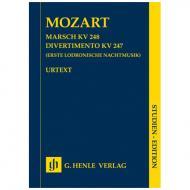 Mozart, W. A.: Marsch KV 248 – Divertimento KV 247 (Erste Lodronische Nachtmusik)