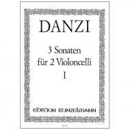 Danzi, F.: 3 Violoncellosonaten Band 1 Nr. 1 A-Dur