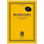 Mendelssohn Bartholdy, F.: Violinkonzert Op. 64 e-Moll