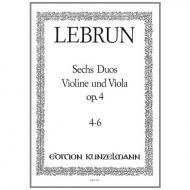 Lebrun, L. A.: 6 Duos Op. 4