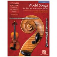 Slatkin, L.: World Songs for Solo Instruments and Strings – Einzelstimme Violine 2