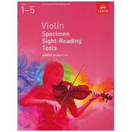 ABRSM: Violin Specimen Sight-Reading Tests – Grades 1-5 (From 2012)