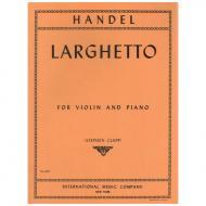 Händel, G. F.: Larghetto aus Op. 1/9