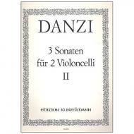 Danzi, F.: 3 Violoncellosonaten Band 2 Nr. 2 C-Dur