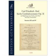 Abel, C. F.: Sechs Cembalosonaten Op. 2 – Sonaten III und IV