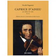 Paganini, N.: Caprice D'Adieu M.S. 68