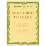 Telemann, G. Ph.: Suite TWV 41:g4 g-Moll