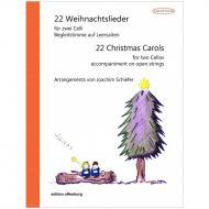 22 Weihnachtslieder für 2 Celli