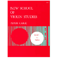 Carse, A.: New School of Violin Studies – Book 1