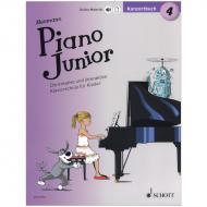 Heumann, H.-G.: Piano Junior – Konzertbuch Band 4 (+Online Material)