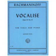 Rachmaninoff, S.: Vocalise op. 34/14