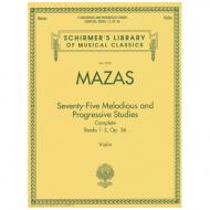 Mazas, J. F.: 75 Melodious and Progressive Studies Op. 36 Complete