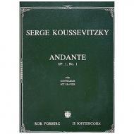 Koussevitzky, S.: Andante Op. 1/1