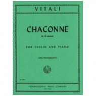 Vitali, T. A.: Chaconne g-Moll