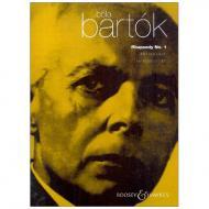 Bartók, B.: Rhapsodie Nr. 1
