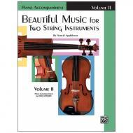 Applebaum, S.: Beautiful Music for two String Instruments Vol. 2 – Klavierbegleitung